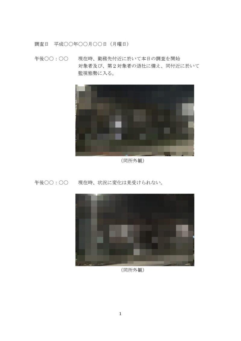 千葉県松戸市のラブ探偵事務所浮気調査報告書1